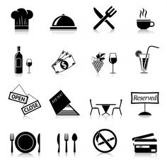 Download Black Restaurant Icons for free in 2020 Restaurant icon Black restaurant Restaurant