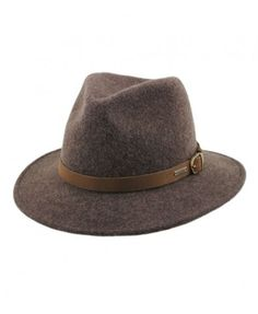 Cowboy Felt Hat with Pin Buckle Belt Around