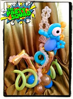 Balloon Delivery Birthday Centerpieces 70th Squad Balloons Doodles Globes 70
