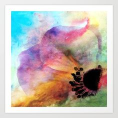 Fineartwork of a anemone on colorful watercolor backround. Looks wonderful on all products and I hope you enjoy. Blue anemone   Throw Pillow, Blue anemone    Duvet Cover,  Blue anemone    Phone Case, Blue anemone    Rugs...