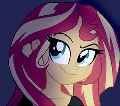 #1123675 - artist:wubcakeva, equestria girls, portrait, safe, solo, sunset shimmer - Derpibooru - My Little Pony: Friendship is Magic Imageboard