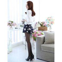 Buy online now - Women's dark blue short skirt flower print pattern design Best Waist Trainer, Dark Blue Flowers, Blue Shorts, Flower Prints, Short Skirts, Fit Women, Pattern Design, Print Patterns, Free Shipping