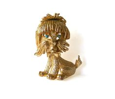 Hey, I found this really awesome Etsy listing at https://www.etsy.com/listing/234382945/vintage-yorkie-dog-brooch-pin-turquoise