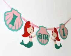 Under the Sea Highchair Banner Mermaid Party 1st by MyLittleBoobug