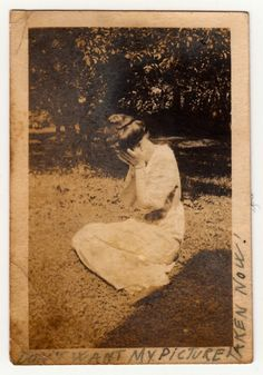 """I don't want my picture taken now!"" (from a collection of old photos with self-deprecating captions, found by Ransom Riggs)"