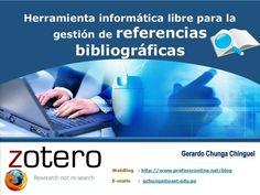 Zotero. Herramienta informática libre para la gestión de referencia...