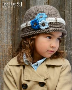 CROCHET PATTERN - His & Hers - a crochet hat pattern for boys and girls (Infant, Baby, Toddler, Child, Adult sizes) - Instant PDF Download