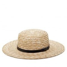 Wide Brim Straw Boater - Sole Society - Hats