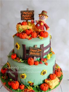 Pumpkin Patch Birthday Cake
