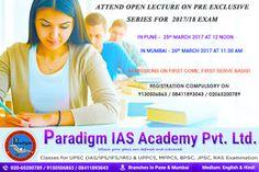 Paradigm Academy: UPSC civil service exam coaching classes in Pune http://paradigmiasacademy.in