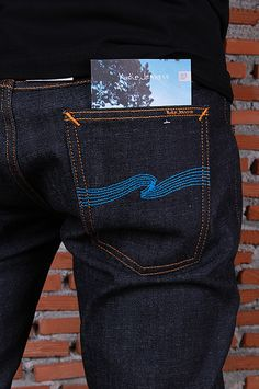 Nudie Jeans Tight Long John org Dry Twill Blue