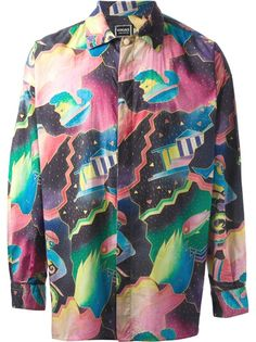 VERSACE VINTAGE - 1980's I remember the 80's style, so full of color!  I missed those wild shirts!