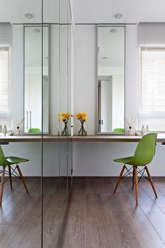 despacho interiores espejos lectura armario verde espejos de pared grandes espejos