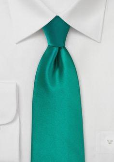 Modische Krawatte tannengrün Poly-Faser