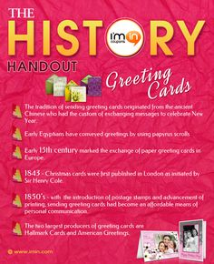 The origins of Greeting Cards in under 30 seconds! Did you know that the practice of sending greeting cards originated from the ancient Chinese?  This educational series is brought to you by http://www.imin.com/ and http://www.imin.com/store-coupons/macys/