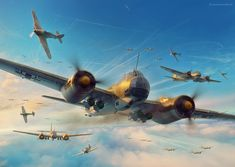ArtStation - Battle of Britain Combat Archive Vol. 3 - 13th August Spread, Piotr Forkasiewicz