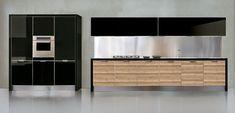 50 ideas de cómo combinar los colores en la cocina - Cocinas con estilo Apartment Interior Design, Modern Interior Design, Modern Kitchen Cabinets, Kitchen Dining, Types Of Doors, Steel Doors, I Cool, Wood, Furniture