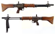 Fallschirmjägergewehr 42, 2nd model- Germany - produced 1944-1945 Caliber 7.92mm Kurz - 10 or 20 round box magazine - 900 rpm