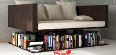 Canapé avec rangements pour livres