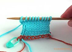 This tutorial for left-handed knitters shows you how to do a crochet provisional cast-on, useful when you need live loops at both ends of your knitting. Provisional Cast On, Cast On Knitting, Left Handed, It Cast, Number, Crochet, Breien, Ganchillo, Crocheting
