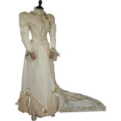 Antique Wedding Gown, Bridal Dress, Victorian Dress, Victorian Gown, Newport, ca. 1895