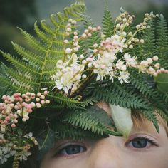 Midsummer flower crown - littlegreenshed tutorial