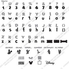 Disney® Mickey Font - Disney - Licensed Designs - Cartridges & Images