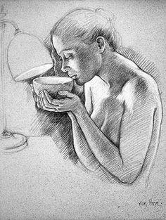 Visit - Drawings (pencil) - Francine Van Hove