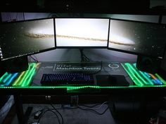 RedLeeder of Imgur bought his dream computer in 2014 then realized he needed a badass desk to go with it. At the end of the Summer in 2015, his work was complete.