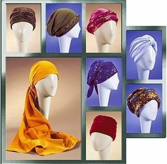 HATS TURBAN Sewing Pattern - Cancer Chemo Cap Hat Head Gear
