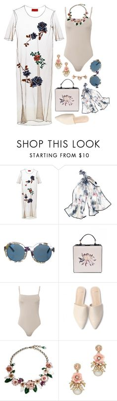 """Sheer Skin"" by silhouetteoflight ❤ liked on Polyvore featuring Clover Canyon, White House Black Market, Linda Farrow, Ancient Greek Sandals and Dolce&Gabbana"