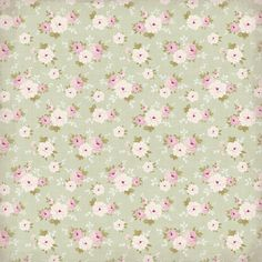 soft green with roses wallpaper