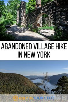 If you enjoy nature and abandoned places, this hiking trail is perfect for you. There are several hikes you can take to reach this abandoned village in New York, with an abandoned mansion, greenhouse, and more. It's a former estate destroyed by fire. Hiking Places, Hiking Trails, Places To Travel, Places To See, New York Travel, Travel Usa, Travel Tips, Nevada, Utah