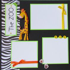 ZOO 12x12 Premade Scrapbook Pages  KiD BoY GiRL by JourneysOfJoy, $15.00