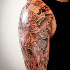 Cool Half Sleeve Tattoos For Guys - Angels