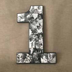 Cute Anniversary Ideas, Diy Anniversary Gifts For Him, Boyfriend Anniversary Gifts, Anniversary Photos, 1st Birthday Pictures, 1st Boy Birthday, Diy Birthday Number Sign, Birthday Collage, Valentines Gifts For Boyfriend