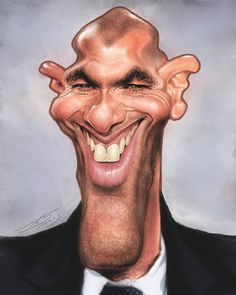 Zinedine Zidane por Rivorio Mok