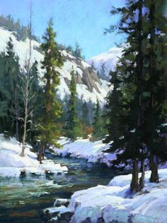American River Sojourn  Pastel on On Archival Paper  24 x 18