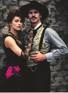 Tombstone. Val Kilmer as Doc and Joanna Pecula as Kate. #josephporrodesigns