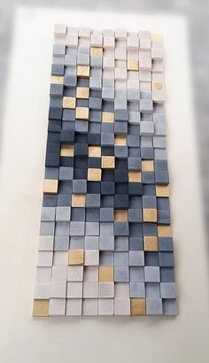Decorate your home with amazing wood wall art. Original wooden sculpture to hanging on the wall. Beautiful piece made in new and recycled wood, the wooden pieces form a mosaic in five different tones, which will give your stay a rustic and elegant touch. The wall sculptures are made