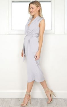 Business Means Business dress in light grey