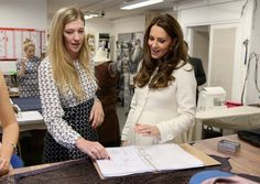 Catherine, Duchess of Cambridge, On The Set Of 'Downton Abbey' - in the costume department