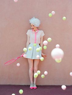 Sweet. #quirky #fashion #tennis #pastels