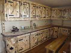 Kitchen Cabinet Refacing to bring your cabinets back to life. Pallet Kitchen Cabinets, Barn Kitchen, Refacing Kitchen Cabinets, Wooden Kitchen, Cabinet Refacing, Kitchen Island, Log Furniture, Diy Furniture Projects, Kitchen Furniture