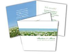 Hochzeitskarten+-+Gänseblümchen+–+Love+is+heaven+on+earth Card Wedding, Getting Married, Flowers