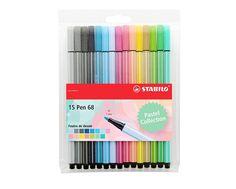 Stabilo Pen 68-Estuche de 15rotuladores de punta media(colores pastel). https://www.amazon.es