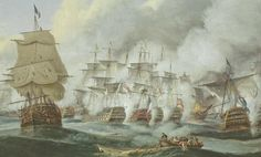 Battle of Trafalgar Print great for Framing as by ImpalaPrints