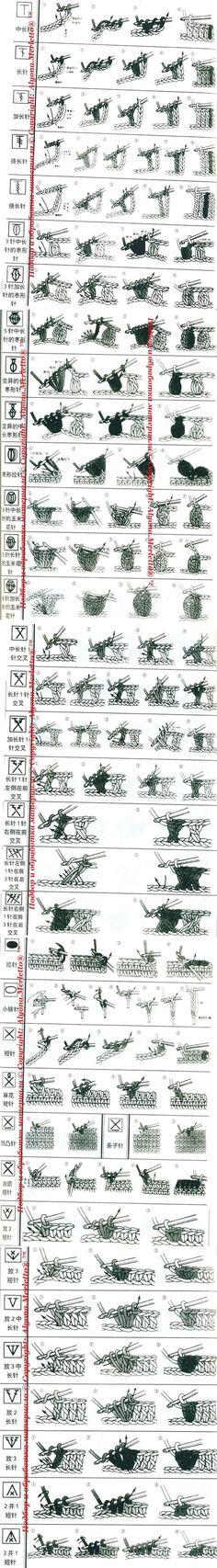 Вязание-крючок >Расшифровка китайских схем ... | крючок | Постила