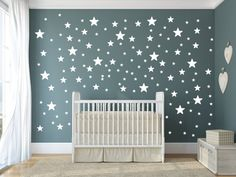Star Wall Decal, Nursery Wall Decorations, Baby Room Stickers, Star Sticker Wall Art, Removable Wall - Sharing The Most Good Designs Baby Room Decals, Baby Room Diy, Room Stickers, Baby Wall Art, Nursery Wall Art, Nursery Room, Nursery Ideas, Bedroom Ideas, Star Stickers