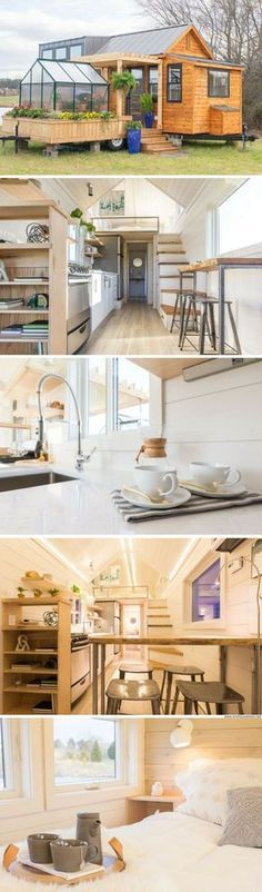 I LOVE THIS DESIGN The Elsa: a stunning luxury tiny house, available for sale in a tiny home community